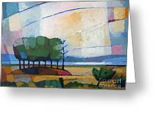 Evening Landscape Greeting Card by Lutz Baar