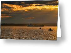 Evening Mariners Puget Sound Washington Greeting Card by Jennie Marie Schell