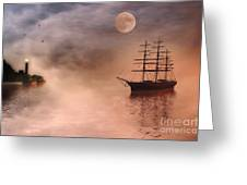 Evening Mists Greeting Card by John Edwards