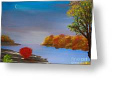 Evening On The Last Sunny Day Greeting Card by Alys Caviness-Gober