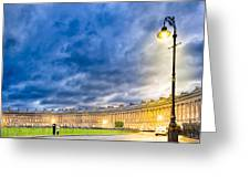 Evening On The Royal Crescent In Bath Greeting Card by Mark Tisdale