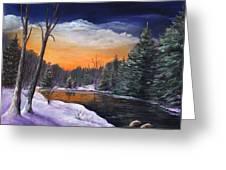 Evening Reflection Greeting Card by Anastasiya Malakhova