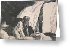 Evening Wind Greeting Card by Edward Hopper