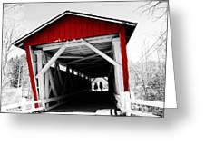 Everett Bridge Greeting Card by Rachel Barrett