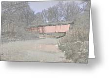 Everett Covered Bridge Greeting Card by Jack R Perry