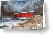Everett Rd. Covered Bridge Greeting Card by Daniel Behm