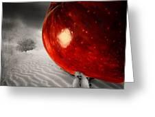 Eve's Burden Greeting Card by Lourry Legarde