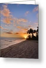Ewa Beach Sunset 2 - Oahu Hawaii Greeting Card by Brian Harig