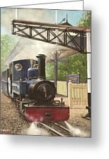 Exbury Gardens Narrow Gauge Steam Locomotive Greeting Card by Martin Davey