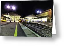 Exeter St Davids By Night  Greeting Card by Rob Hawkins