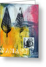 Exhale Greeting Card by Linda Woods