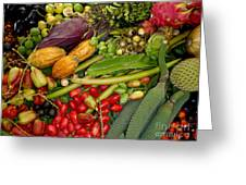 Exotic Fruits Greeting Card by Carey Chen