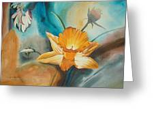 Exploding Floral Greeting Card by John Norman Stewart