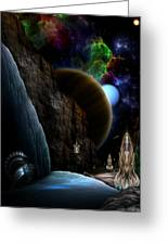 Exploration Of Space Greeting Card by Rolando Burbon