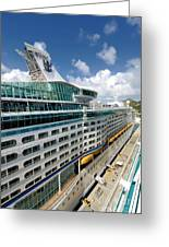 Explorer Of The Seas Seen From Adventure Of The Seas Greeting Card by Amy Cicconi