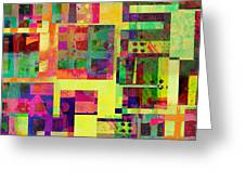 Extreme Color  Abstract Art Greeting Card by Ann Powell