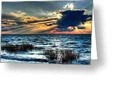 Extreme Sunset - Outer Banks Greeting Card by Dan Carmichael