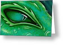Eye Of The Green Algae Dragon Greeting Card by Elaina  Wagner