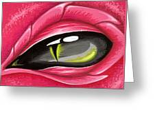 Eye Of The Rubellite Dragon Greeting Card by Elaina  Wagner