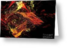 Eye Of The Storm 3 - Mass Chaos - Abstract - Fractal Art Greeting Card by Andee Design