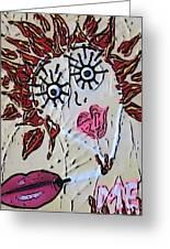 Eye Smoke Discrimination  Greeting Card by Lisa Piper Menkin Stegeman