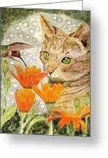 Eye To Eye Greeting Card by Angela Davies