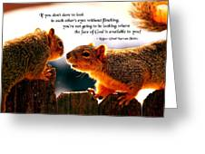 Eye To Eye Greeting Card by Mike Flynn