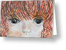 Eyes Of Innocence Greeting Card by Eloise Schneider