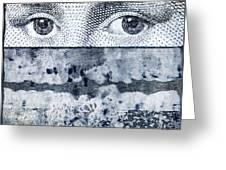 Eyes On Blue Greeting Card by Carol Leigh