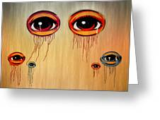 Eyes Greeting Card by Steven  Michael