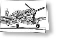 F4u Corsair Greeting Card by Dale Jackson