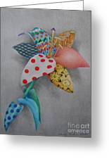 Fabric Lily Greeting Card by Charity Goodwin