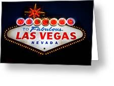 Fabulous Las Vegas Sign Greeting Card by Steve Gadomski