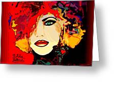 Face 14 Greeting Card by Natalie Holland