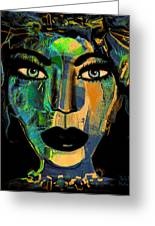 Face 16 Greeting Card by Natalie Holland