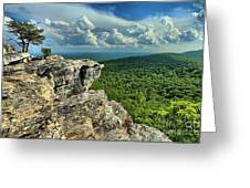 Face In The Cliff Greeting Card by Adam Jewell