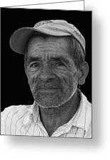 Face Of A Hardworking Man Greeting Card by Heiko Koehrer-Wagner