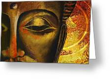 Face Of Buddha  Greeting Card by Corporate Art Task Force