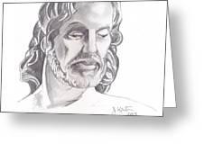 Face of Jesus Greeting Card by John Keaton