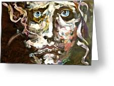 Face Series 3 Greeting Card by Michelle Dommer