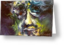 Face series 5 the other side Greeting Card by Michelle Dommer