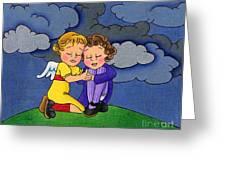 Facing It Together Greeting Card by Sarah Batalka
