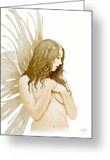 Faerie Portrait Greeting Card by John Silver