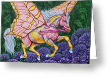 Faery Horse Hope Greeting Card by Beth Clark-McDonal