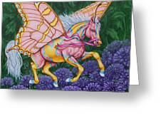 Faery Horse Hope Greeting Card by Beth Clark-McDonal