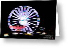 Fair Night Ferris Greeting Card by Megan Dirsa-DuBois