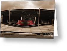 Fairground Waltzer In Sepia Greeting Card by Terri  Waters
