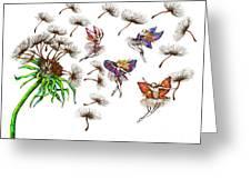 Fairies Greeting Card by Karen Sirard