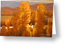 fall backlight Greeting Card by Doyle Shaw