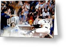 Fall Classic   Thurman Munson Greeting Card by Iconic Images Art Gallery David Pucciarelli